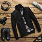 New Men's Slim collar jackets fashion jacket Tops Casual coat outerwear New !