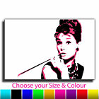 Audrey Hepburn Banksy Single Canvas Wall Art Picture Print TAB