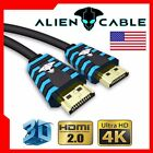 Alien Cable Ultra High Speed UHD HDMI v2.0 Cable 4K HD 2160P X2K 3D LED HDTV HDR