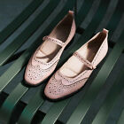 Brogue Womens Carved Wing Tip Slip On Flats Casual Preppy Shoes Oxfords Loafers