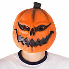 Mens Funny Scary Pumpkin Latex Face Mask Fancy Dress Costume Halloween Party