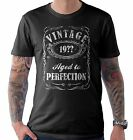 Vintage Aged to Perfection Any Year Birthday T Shirt 21st 30th 40th 50th 60th