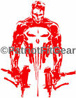 "Punisher,10""x13"",Guns,Skull,Punishment Is Due,2A,Dont Tread On Me,Vinyl Decal"