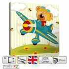 NURSERY BABY KIDS CHILDS BEDROOM PLAIN BEAR - CANVAS WALL ART PRINTS PICTURES