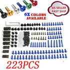Aluminum Motorcycle Sportbike Windscreen Fairing Bolts Kit Fastener Clips Screws $18.44 USD