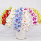 "85cm 33"" WHITE PINK 11 HEADS ARTIFICIAL SILK REAL TOUCH PU COATING ORCHID FLOWER"