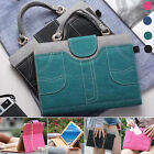 Luxury Chain + Denim Jean Leather Handbag Wallet Stand Case Cover For Apple iPad