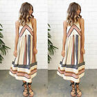 Women Cotton Sleeveless Party Dress Evening Cocktail Summer Casual Long Dress Us