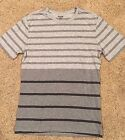 NWT Men's Gray Stripe Short Sleeve Crewneck Mossimo T-Shirt Small