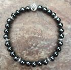 UNISEX MAGNETIC HEMATITE THERAPY STRETCH BRACELET WITH LION HEAD ALL SIZES