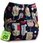 Reusable Cloth Nappy Washable Baby Pocket Diaper STANDARD Popper Adjustable Wrap