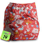 Reusable Cloth Nappy Washable Baby Pocket Diaper STANDARD Popper Adjustable Wrap <br/> BUY 5,GET 1 FREE (add 6 to basket)
