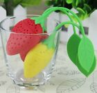 New Tea Deffuser Infuser strainer Silicone loose Leaf Strawberry Filter