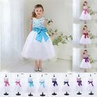Girls Dress Party and Wedding Bridesmaid Beaded Lace Tiered Ball Gown Clothes