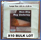 10x Anti Slip Non Slip Rug Bulk Lot Underlay Kitchen Drawer Skid Mat 2 sizes