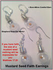 Religious Jewelry Gift Silver Mustard Seed Ball Earrings Jesus Parable Faith