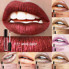 Metallic Glitter Matte Liquid Lipstick Waterproof Makeup Lip Gloss Long Lasting