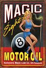 MAGIC 8 BALL MOTOR OIL SIGN GREAT GIFT FOR ANY MACHANIC OR GARAGE ETC £7.99 GBP on eBay