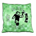 Pixel Cushion Covers - EAT SLEEP MINE - REPEAT