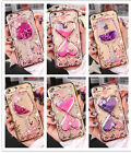 Glitter Girl's Flower Liquid Quicksand Rubber Bling Protective Phone Case Cover