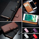 Genuine Leather Magnetic Flip Wallet Case Cover For Apple iPhone 7/7 Plus 6S 5S