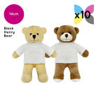 10 x  BLANK PRINTABLE HENRY TEDDY BEAR SOFT TOY T-SHIRT SUBLIMATION TRANSFER