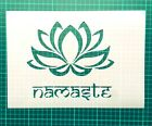 Lotus Flower Namaste STENCIL for interior decor / Yoga stencil