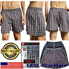 Knocker New Lot of 6 12 Men Boxers Underwear Assorted Plaid Trunk Shorts S - 3XL