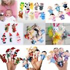 10Pcs Family Finger Puppets Cloth Doll Baby Educational Hand Cartoon Animal Toy-