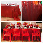 Red rectangle Sequin Tablecloth for Wedding/christmas Party,choose size