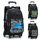 Children Trolley Backpack with 6 Wheels Removable Kids Rolling Way of life Book Bag
