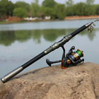 Professional 2.1-3.0m Glass Fiber Telescopic Fishing Rods + Fish Reel Set Gifts