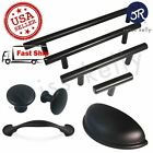 Matte Black Cabinet Pull Door Handle Steel Kitchen Hardware Drawer Knob T Bar