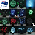 Star Wars Star Trek 3D LED Night Light 7 Colour Touch Table Desk Art Lamp Gifts