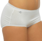 Ladies 4 Pairs Stretch Cotton Shaping Hi Leg Midi Brief knickers Size 12-18