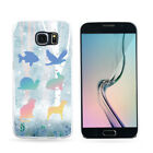 Gradient Animals Silhouettes Phone Case Cover for iPhone 6 Samsung S4 S5 Sweet