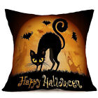 Halloween Pattern Cotton Linen Pillow Case Cushion Cover Home Couch Decor 2017