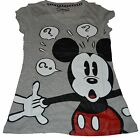 NWT Disney Junior Size Questions MICKEY MOUSE Gray Junior V-neck TEE  free ship