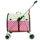 Newly Pet Stroller Puppy Small Dog Cat Carrier Breathable Tote Bag Foldable Cart