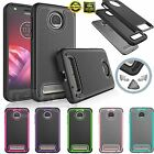 For Motorola Moto Z2 Force Bumper Shockproof Hybrid Rugged Rubber Hard Back Case