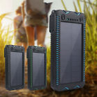6000mAh Portable Solar Charger Dual External Battery Power Bank Waterproof