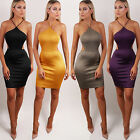 NEW LADIES WOMENS RACER BACKLESS MULTI STRAP PARTY BODYCON MINI DRESS SIZE 6-12