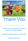 personalised photo paper card party birthday thank you notes TELETUBBIES #2