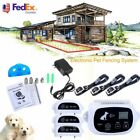 Wireless 1/2/3 Dog Fence Pet Containment System Rechargeable Training Collar VP