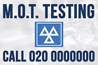 Personalised MOT Design 01 Car Test Testing Business PVC Banners Outdoor Printed