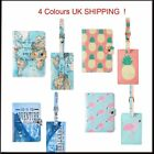2PCS Passport Holder Card Cover + Luggage Tag Name Travel Suitcase Label Leather