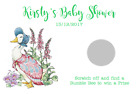 PERSONALISED BABY SHOWER FAVOUR SCRATCHCARDS SCRATCH CARDS JEMIMA PUDDLEDUCK