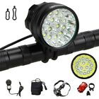 Rechargeable 50000Lm 15x XML T6 LED 3Modes Head Cycling Lamp Front Bicycle Light
