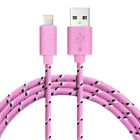 Braided 1M 2M 3M lead charger USB Data cable for iPhone 6 6S 5 5S SE iPad mini