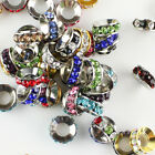 10 Pieces Czech Crystal Round Rondelle Big Hole Spacer European Charm Beads 10mm